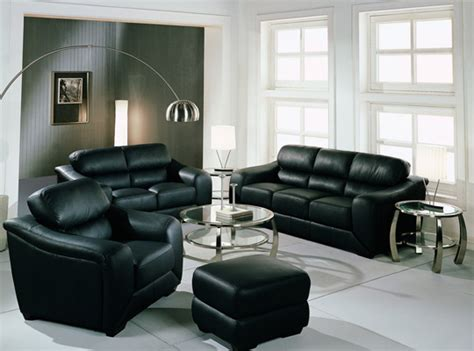 Black Decorations Home by Black Sofa Living Room Decoration Ideas Home Decoration