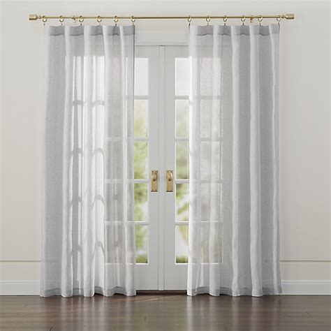 Linen Sheer Curtains Linen Light Grey Sheer Curtains Crate And Barrel