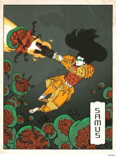 classic nintendo characters  japanese woodblock prints