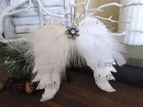 christmas ornaments angel wings sheed music angel by