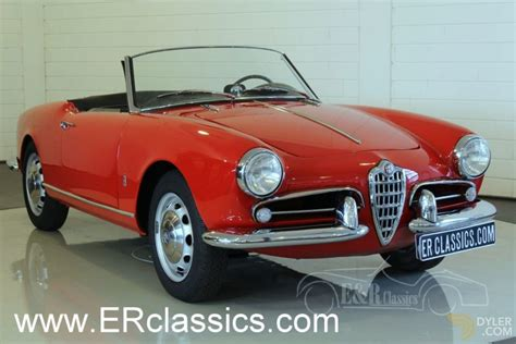 Alfa Romeo Spider For Sale by Classic 1956 Alfa Romeo Giulietta Spider 750d Restored