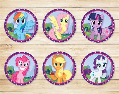 Stiker Sticker Pony free printable my pony cupcake toppers my