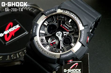 Casio G Shock Ga200 Rubber Incld Box D 44mm Exclusive For brand new casio g shock ga200 1a analog digital s