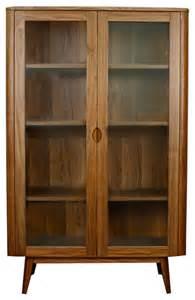 36 inch wide china cabinet glass door cabinet walnut midcentury china