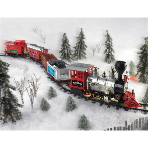 christmas train set north pole express holiday battery