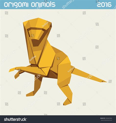 new year monkey origami origami monkey vector clear simple flat illustration new