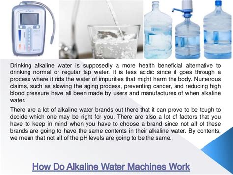 Does Alkaline Water Detox Your by How Do Alkaline Water Machines Work