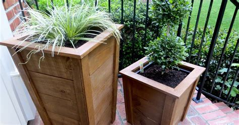 Pressure Treated Wood For Planter Boxes by Diy Tutorial Decorative Wood Planter Boxes The Project