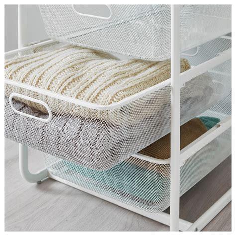 Algot Drawers by Algot Frame 4 Mesh Baskets Top Shelf White 41x60x75 Cm