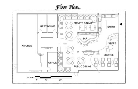 restaurant layout floor plan sles fast food restaurant design layout