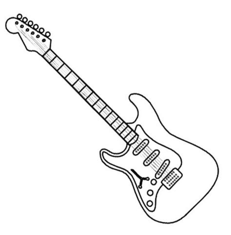 guitar coloring pages to print printable pictures of electric guitars impremedia net