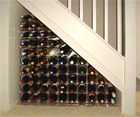 wine storage under stairs ideas for space under stairs