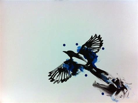 magpie tattoo design watercolour magpie ideas