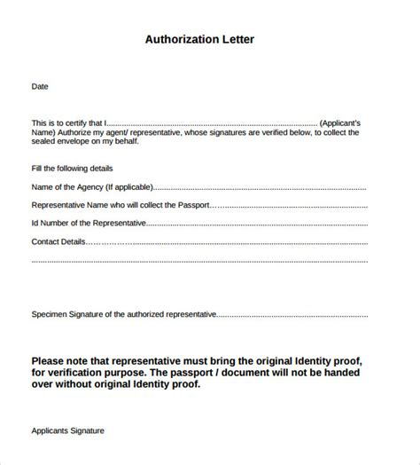 authorization letter withdrawal exle of authorization letter 7 in
