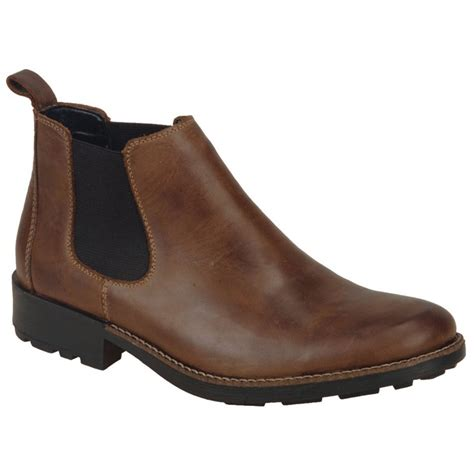 rieker mens boots rieker mens 36082 25 brown chelsea boots marshall shoes