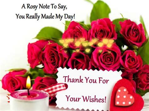 Thanks For Your Lovely Wishes! Free Thank You eCards