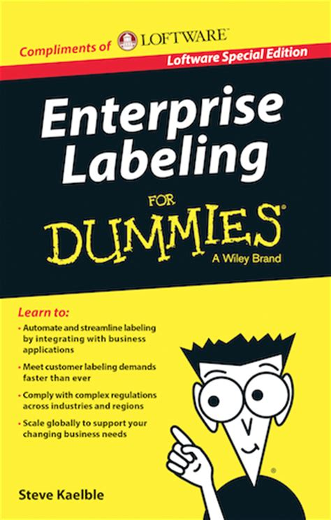 supply chain management for dummies books loftware writes the book on supply chain labeling
