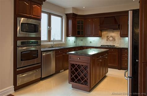 pictures kitchens traditional dark wood cherry color kitchen