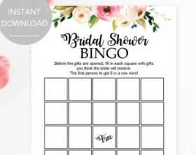 bridal bingo template printable bridal shower etsy