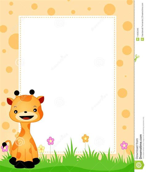 baby jungle animal border clip baby animal borders