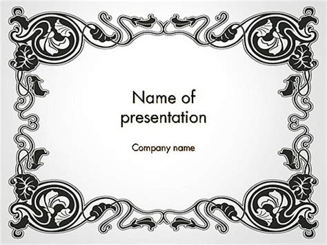 cornici powerpoint vintage baroque frame powerpoint template