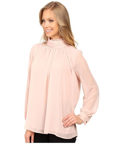 Vince Camuto Sleeve Blouse by Vince Camuto Sleeve Ruffle Neck Blouse Zappos