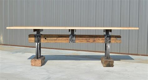 Post & Beam Rustic Industrial Bar Height Table   The