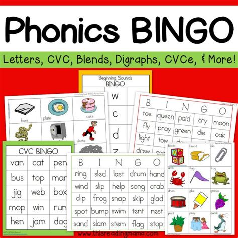 printable phonics card games phonics bingo pack this reading mama