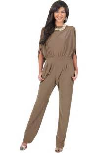 Teresa classy comfortable cocktail batwing sleeve jumpsuit