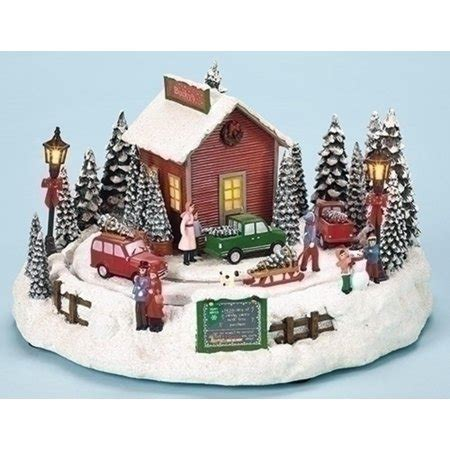 christmas tabletop musical rotating christmas tree decoration 7 quot amusements led lighted animated and musical rotating tree farm table top decoration