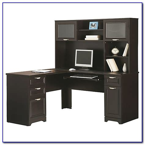 realspace magellan performance collection l desk espresso realspace magellan performance collection l shaped desk