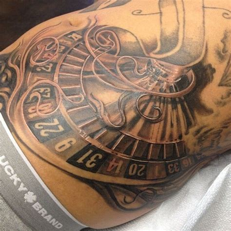 roulette wheel tattoo designs 17 best images about on