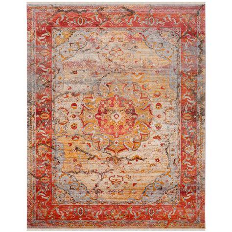 rugs 8 ft safavieh vintage saffron 8 ft x 10 ft area rug vtp435p 8 the home depot