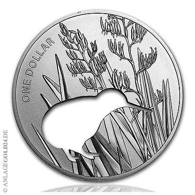 1 oz silver one dollar 2015 1 oz silver dollar neuseeland kiwi silhouette 2015