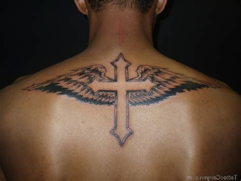 back tattoo mens designs cross tattoos for on back best design