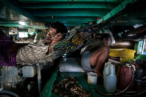 fishing boat sleeping quarters sea slaves the human misery that feeds pets and