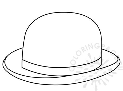 coloring book hat bowler hat coloring page for kid coloring page