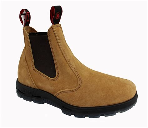redback safety boot suede steel toe usbba banana suede
