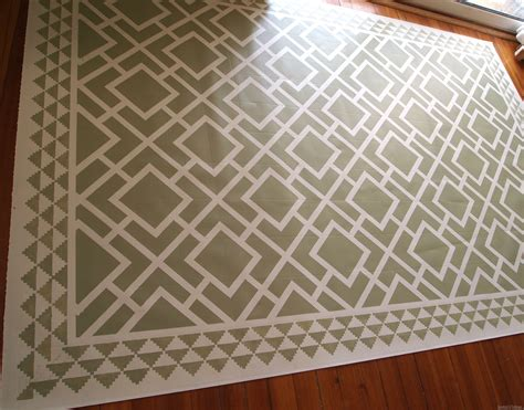 Painting An Area Rug Diy Dining Room Area Rug Painted Linoleum Reality