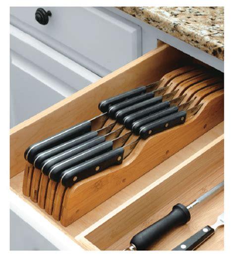 drawer knife block kitchen drawer organizers kitchen bamboo knife block in kitchen drawer organizers