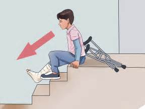 How To Walk Up The Stairs With Crutches by How To Walk On Crutches With Pictures Wikihow