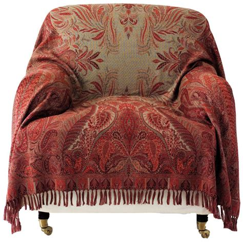 armchair throws uk antique style paisley wool throw oka