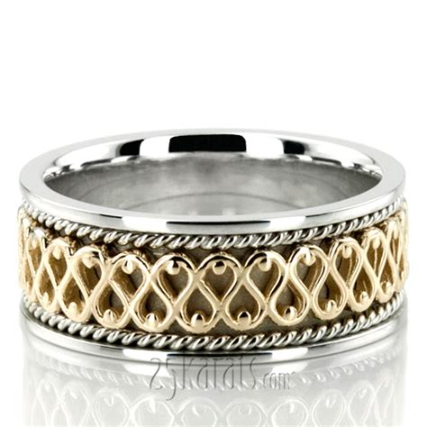traditional celtic handmade wedding ring hc100248 14k gold