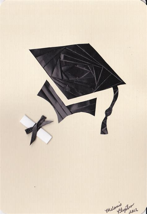 Origami Graduation Hat - folding money into graduation cap pictures to pin on
