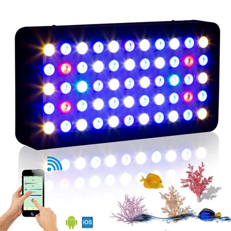 saltwater fish tank lights wifi 165w marine aquarium led lighting dimmable full