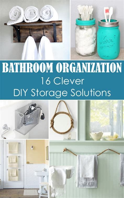 diy solutions small bathroom organization 16 clever diy storage solutions