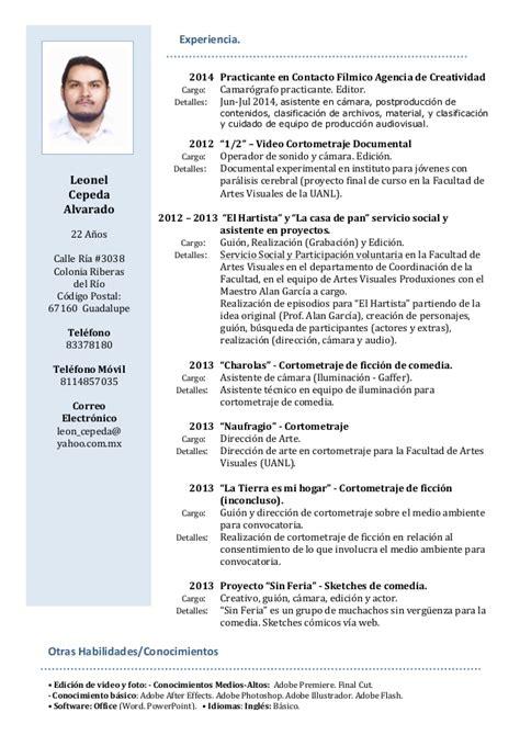Modelo Curriculum Vitae Habilidades Curriculum Vitae Habilidades Curriculum Vitae
