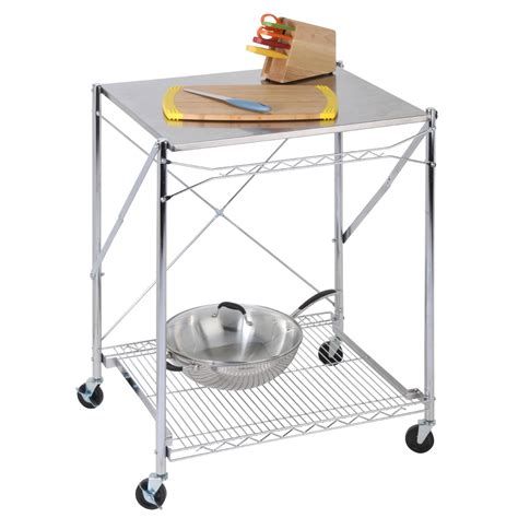 honey can do folding table honey can do stainless steel folding work table