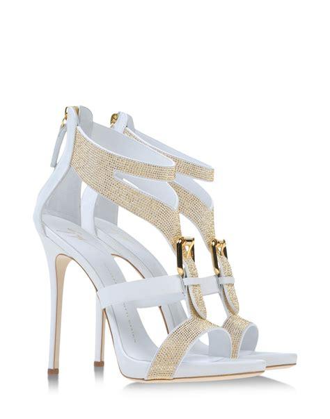 white giuseppe zanotti sandals giuseppe zanotti sandals in white lyst