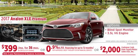 toyota avalon lease price new 2017 toyota avalon special purchase lease offers